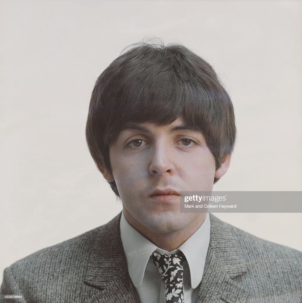Posed studio session of Paul McCartney from The Beatles in 1965.