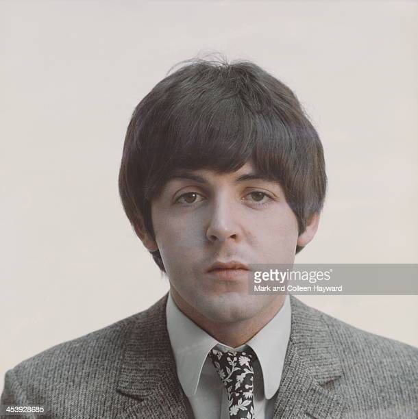 Posed studio session of Paul McCartney from The Beatles in 1965