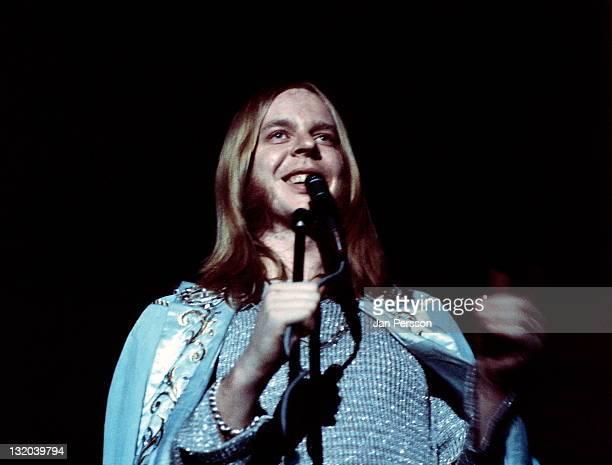 Rick Wakeman performs live on stage in Copenhagen Denmark in 1975