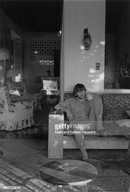 Ringo Starr from The Beatles posed relaxing in the shade on holiday in Port Of Spain Trinidad in January 1966