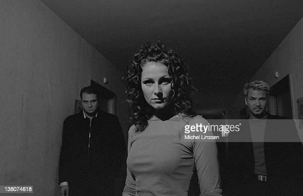 Swedish pop band Ace Of Base posed in the Netherlands in 1998 Left to right Jonas Berggren Jenny Berggren and Ulf 'Buddha' Ekberg
