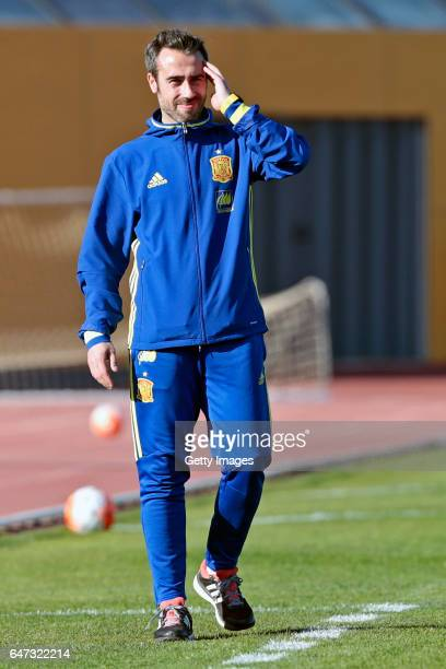 Jorge Vilda of Spain Women during the match between Japan v Spain Women's Algarve Cup on March 1st 2017 in Parchal Portugal
