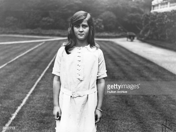 Princess Cecilia of Greece daughter of Princess Alice and Prince Andrew of Greece later Cecilia Grand Duchess of Hesse She is at the wedding of the...
