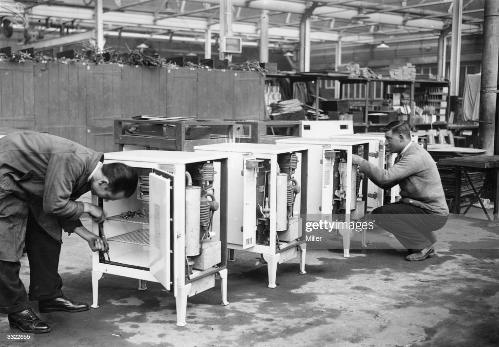 Two Workers At The Electrolux Factory In Luton Bedfordshire Making