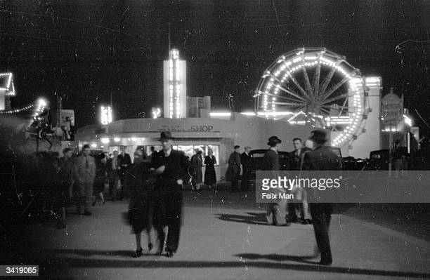 Blackpool Pleasure Beach by night Original Publication Picture Post 167 So This Is Blackpool pub 1939