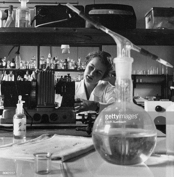 Scientist at work in a laboratory.