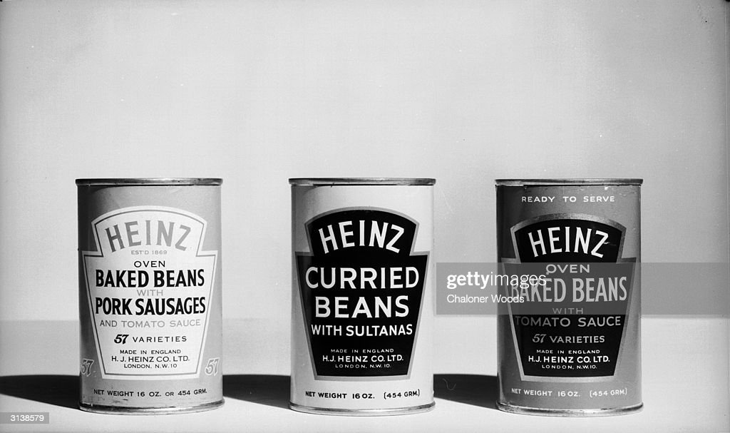 A selection of Heinz baked beans tinned in tomato sauce.