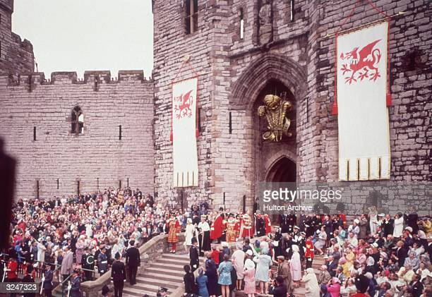The investiture of Charles Prince of Wales at Caernarvon Castle