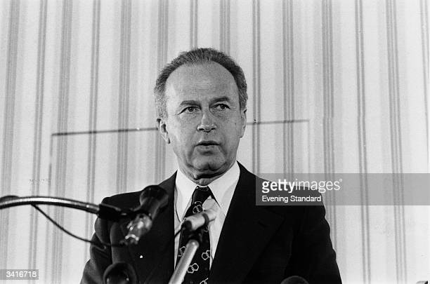 The Israeli premier, Yitzhak Rabin .