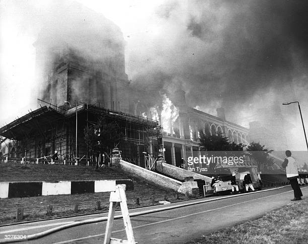 The fire at Alexandra Palace which completely destroyed the building