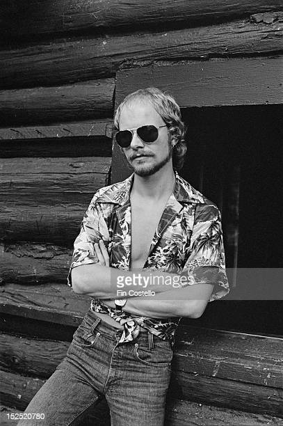 Guitarist Andy Powell from British rock band Wishbone Ash posed in Westport Connecticut in June 1975