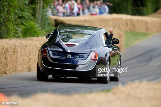 Unique Rolls Royce Sweptail at Goodwood on 1st July 2017 in Chichester England