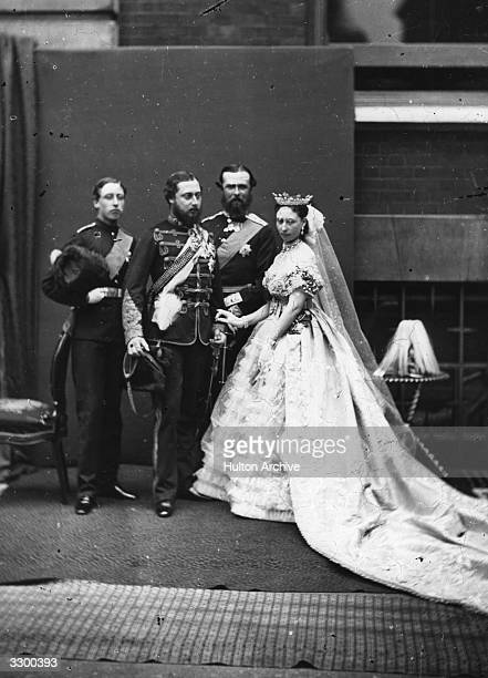 Princess Alice 3rd daughter of Queen Victoria of England holds a 'drawing room' function on behalf of the Queen at St James' Palace London In...