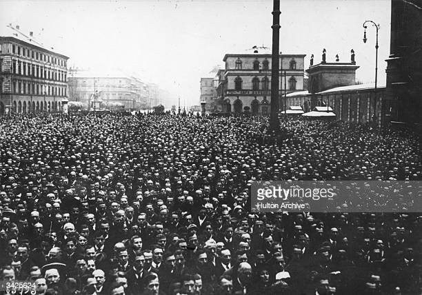 In Munich over 30000 Germans protested against the decisions of the Versailles Conference