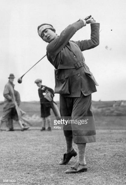 Miss Audrey Croft taking her shot at the Ladies' Open Golf Championship at Turnberry south Ayrshire Turnberry has two popular links courses the Ailsa...