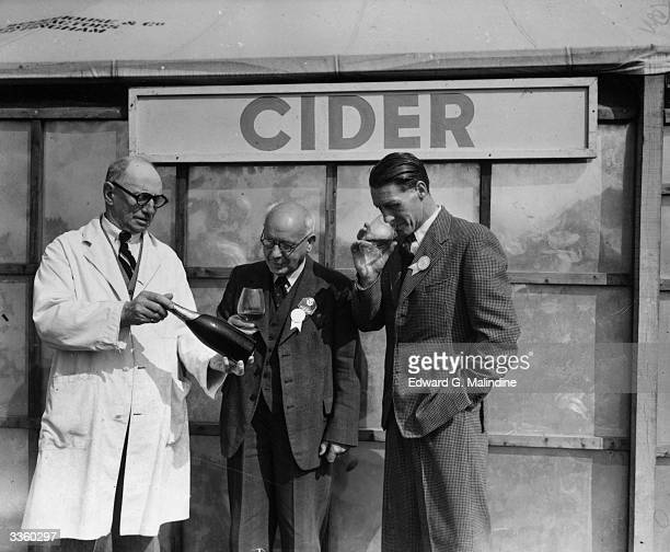 Judges of the cider competition at the Bath and West and Southern Counties Society's four day agricultural show