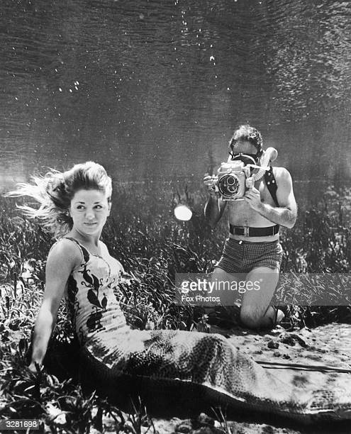 Underwater model Vera Benson at her studio in Silver Springs