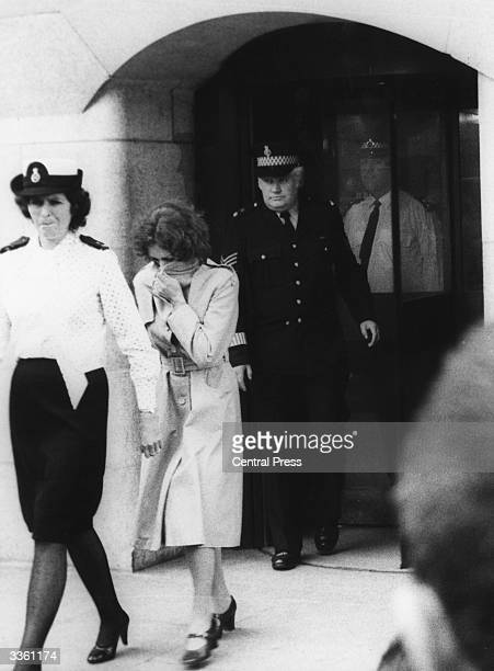 Sonia Sutcliffe leaving the Old Bailey in London during the trial of her husband Peter Sutcliffe. He received a life sentence for the murder of 13...