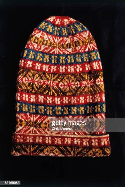 A Fair Isle style knitted hat