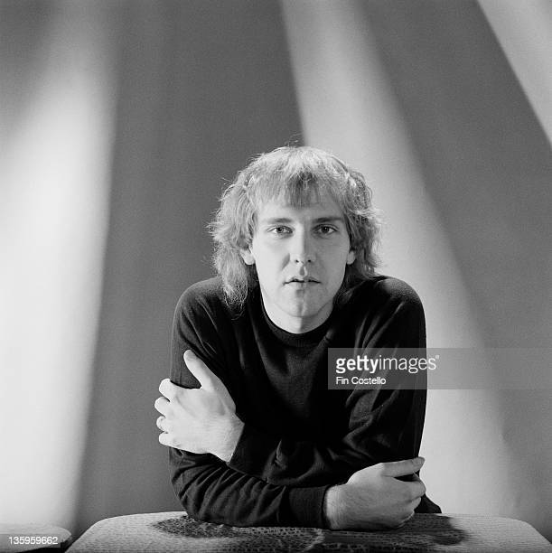 Guitarist Alex Lifeson from Canadian Progressive rock group Rush posed in a studio in London in June 1980