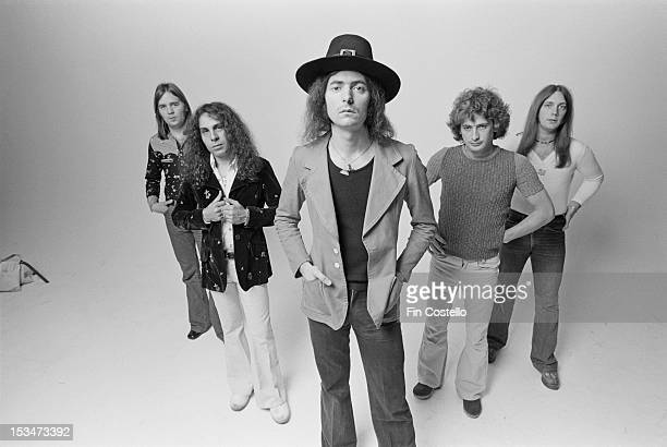 Rock group Rainbow featuring guitarist Ritchie Blackmore singer Ronnie James Dio keyboard player Mickey Lee Soule bassist Craig Gruber and drummer...