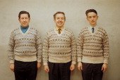 1st june three men pose wearing matching fair isle jumpers on one of picture id155949094?s=170x170