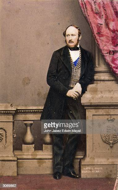 Prince Albert consort to Queen Victoria shortly before his death from typhoid fever