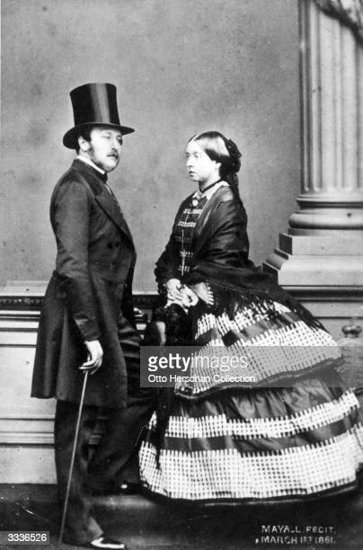 Queen Victoria with her husband the Prince Consort Albert