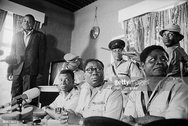 General Joseph Ankrah, one of the Ghanaian military leaders who came to power in the coup which ousted Kwame Nkrumah.