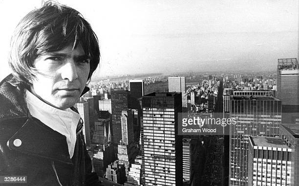 English singer-songwriter Peter Gabriel, formerly of the band Genesis, sightseeing in New York whilst on tour.