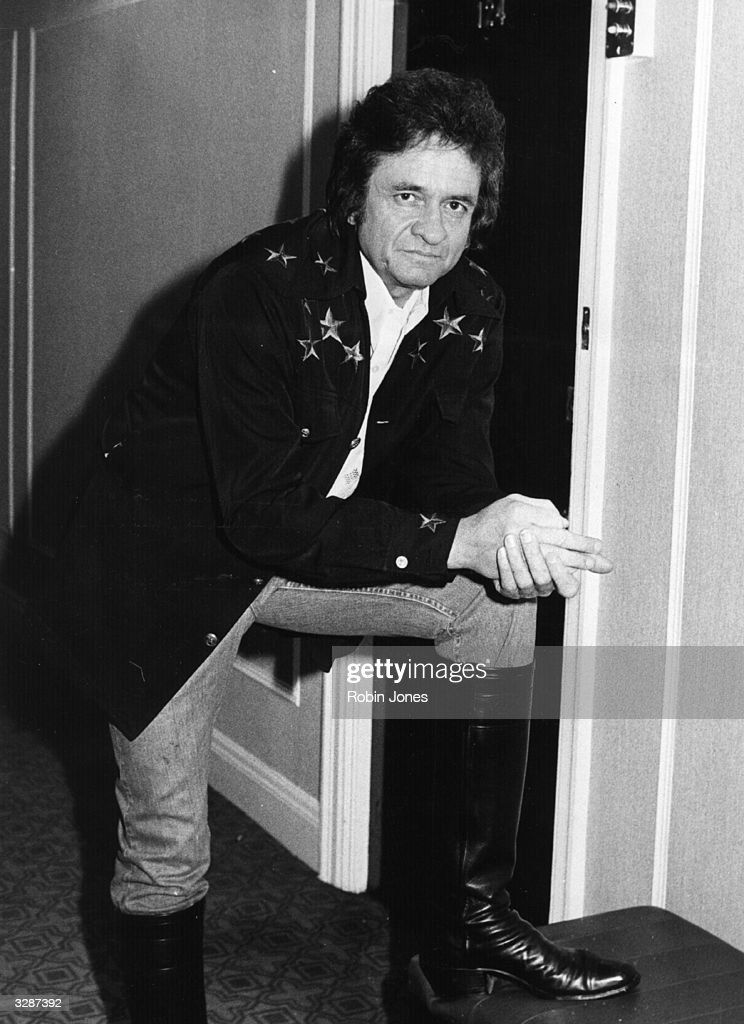 Country music legend Johnny Cash (1932 - 2003) in London.