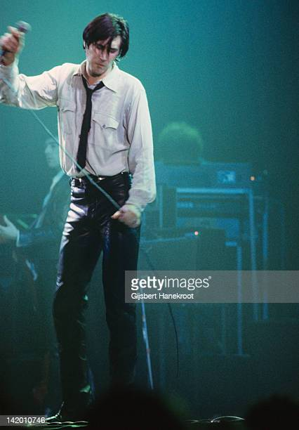 Bryan Ferry from Roxy Music performs live on stage during the 'In Your Mind' Tour in Amsterdam Netherlands in March 1977