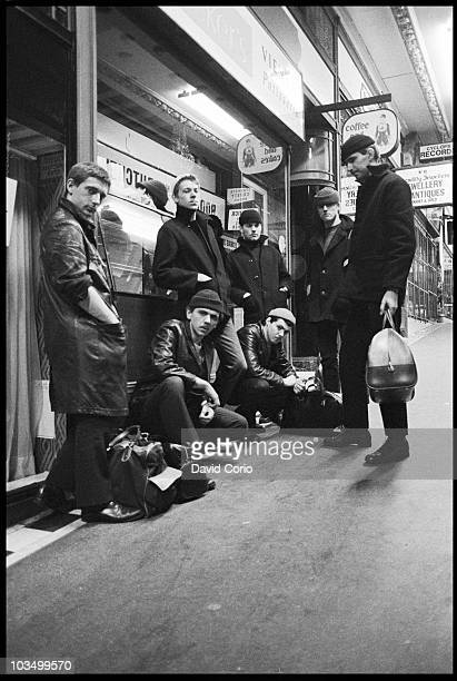 Dexys Midnight Runners pose for a group portrait with Kevin Rowland second left in March 1980 in Birmingham United Kingdom
