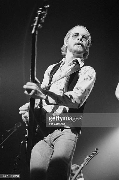 guitarist Andy Powell from British rock group Wishbone Ash performs live on stage during the band's tour of the United States in March 1976