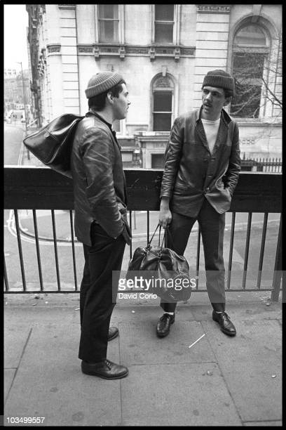 Kevin 'Al' Archer and Kevin Rowland of Dexys Midnight Runners pose in March 1980 in Birmingham United Kingdom