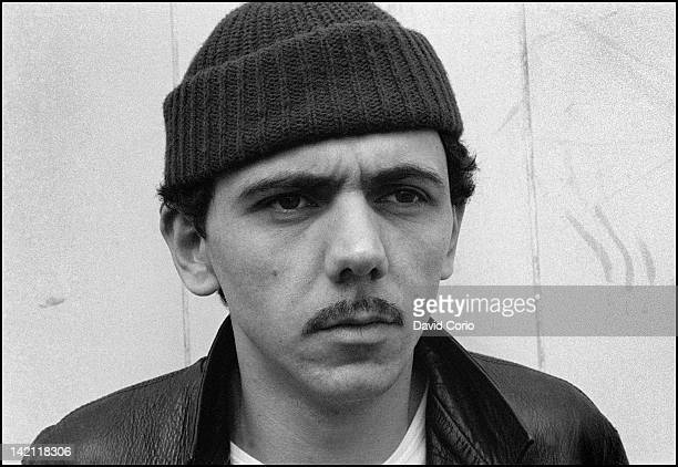 Kevin Rowland of Dexys Midnight Runners posed at Birmingham Bull Ring Centre Birmingham UK in March 1980