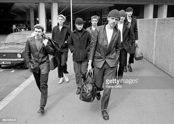 Photo of DEXYS MIDNIGHT RUNNERS Dexys Midnight Runners walking along a street in Birmingham in March 1980 Lead singer Kevin Rowland at the front
