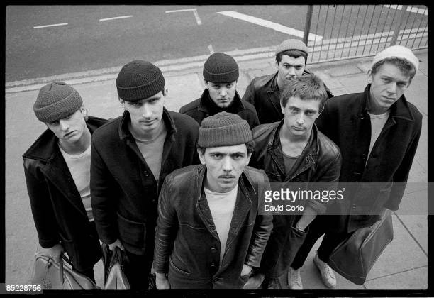 Photo of DEXYS MIDNIGHT RUNNERS Dexys Midnight Runners posed in Birmingham in March 1980 Lead singer Kevin Rowland at front