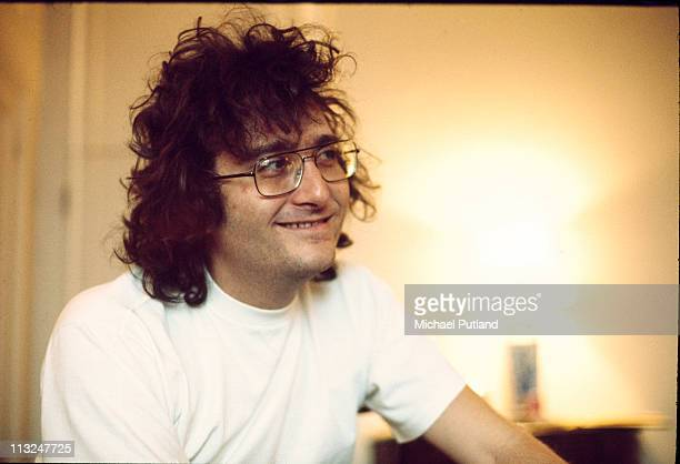 Randy Newman portrait being interviewed at the Savoy Hotel London March 1972