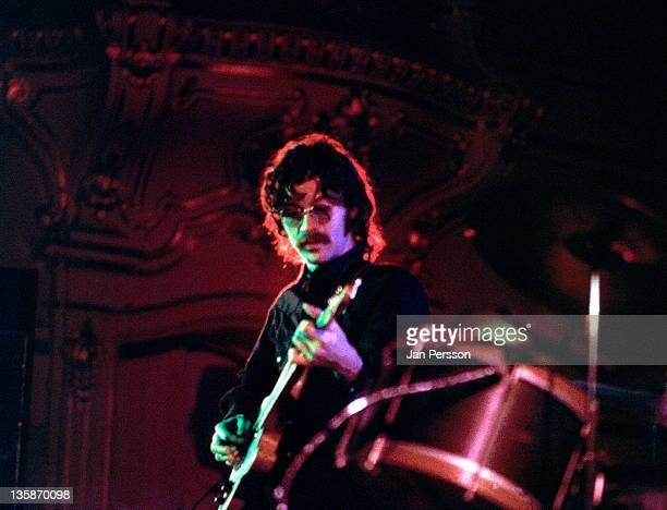 1st MARCH: Robbie Robertson from The Band performs live on stage in Hamburg, Germany in March 1971.