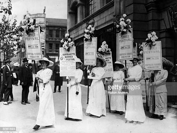 The start of the suffragettes Summer Festival at the Empress Rooms in Kensington
