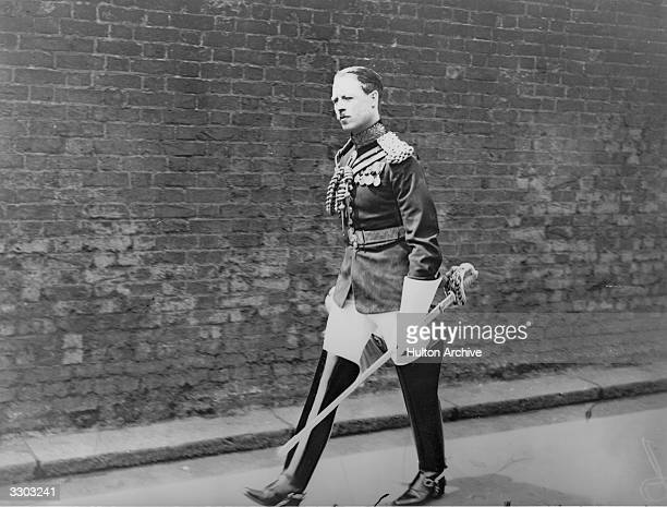 Albert Edward John Spencer as Lord Althorp arriving for levee at St James' Palace London He is the future 7th Earl Spencer