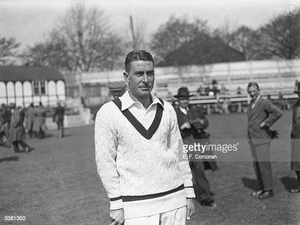 Australian cricketer Victor Richardson before a match at Worcester
