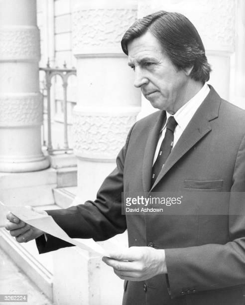 The Secretary of the Football Association Ted Croker outside the FA Headquarters, Lancaster Gate, London.