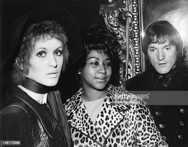 American singer Aretha Franklin posed with Julie Driscoll and Brian Auger in London in May 1968