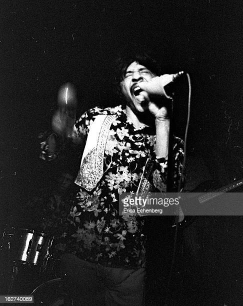 Arthur Lee from rock group Love performs live on stage at the Speakeasy club in London in May 1974