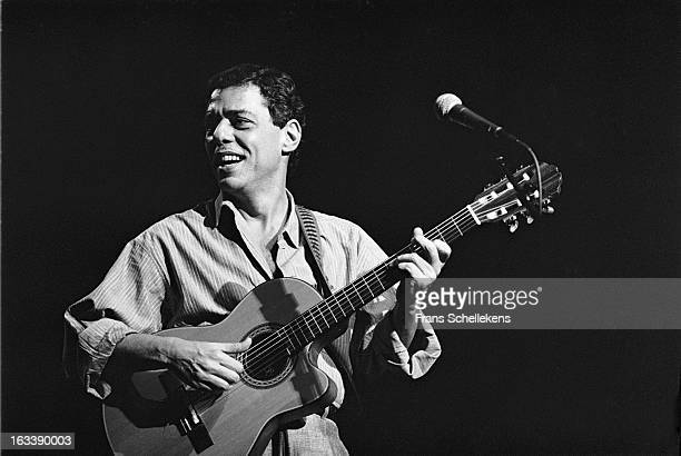 Brazilian singer Chico Buarque performs live on stage at Vredenburg in Utrecht Netherlands on 1st May 1988