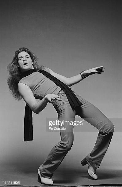 David Lee Roth from Van Halen poses in a London photographic studio in May 1978.