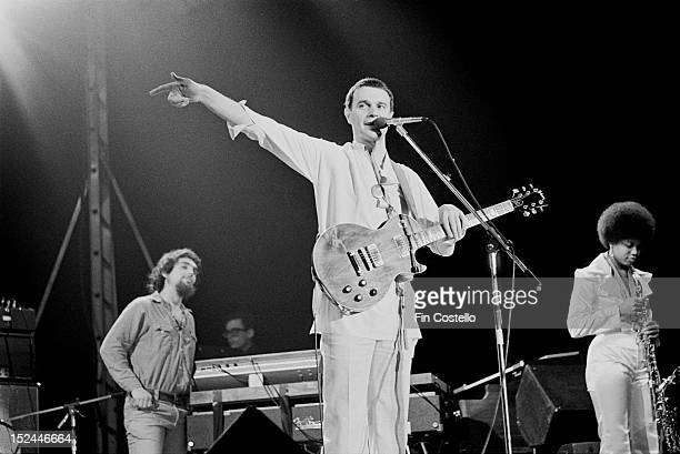 1st MAY: Guitarist John McLaughlin from the Mahavishnu Orchestra performs live on stage in Hartford, Connecticut in May 1975.