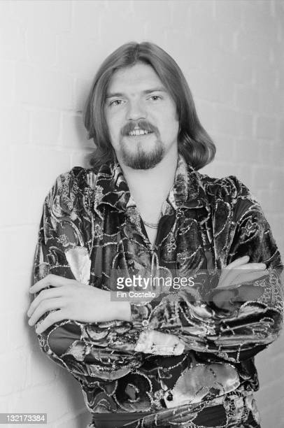 Hugh McDowell cello player with Electric Light Orchestra posed on the set of a video shoot to promote singles from the album 'Discovery' in May 1979